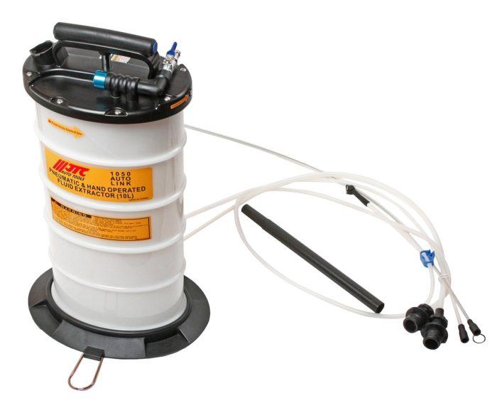 Приспособление для откачки технических жидкостей с ручным и пневматическим приводом, емкость 10л