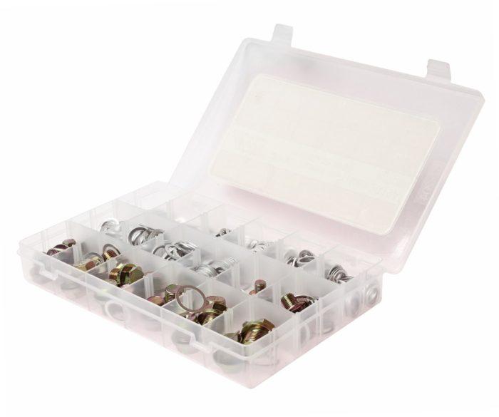 Набор алюминиевых шайб и маслосливных пробок 534шт (в боксе)