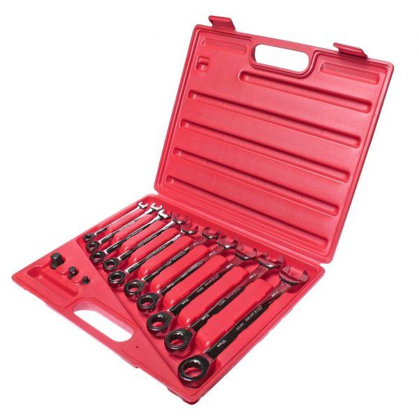 Набор ключей комбинированных трещоточных 8-19мм 13 предметов