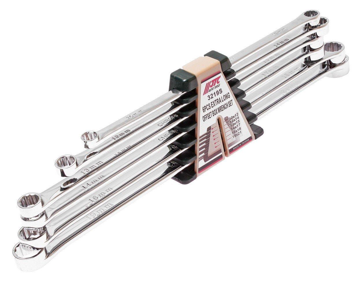 JTC-3219S Набор ключей накидных удлиненных 12-гранных 10-21мм 6 пр.
