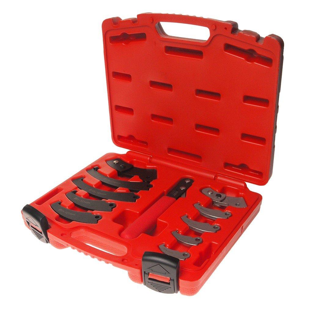 JTC-4455 Набор ключ с насадками для круглых гаек с прорезью