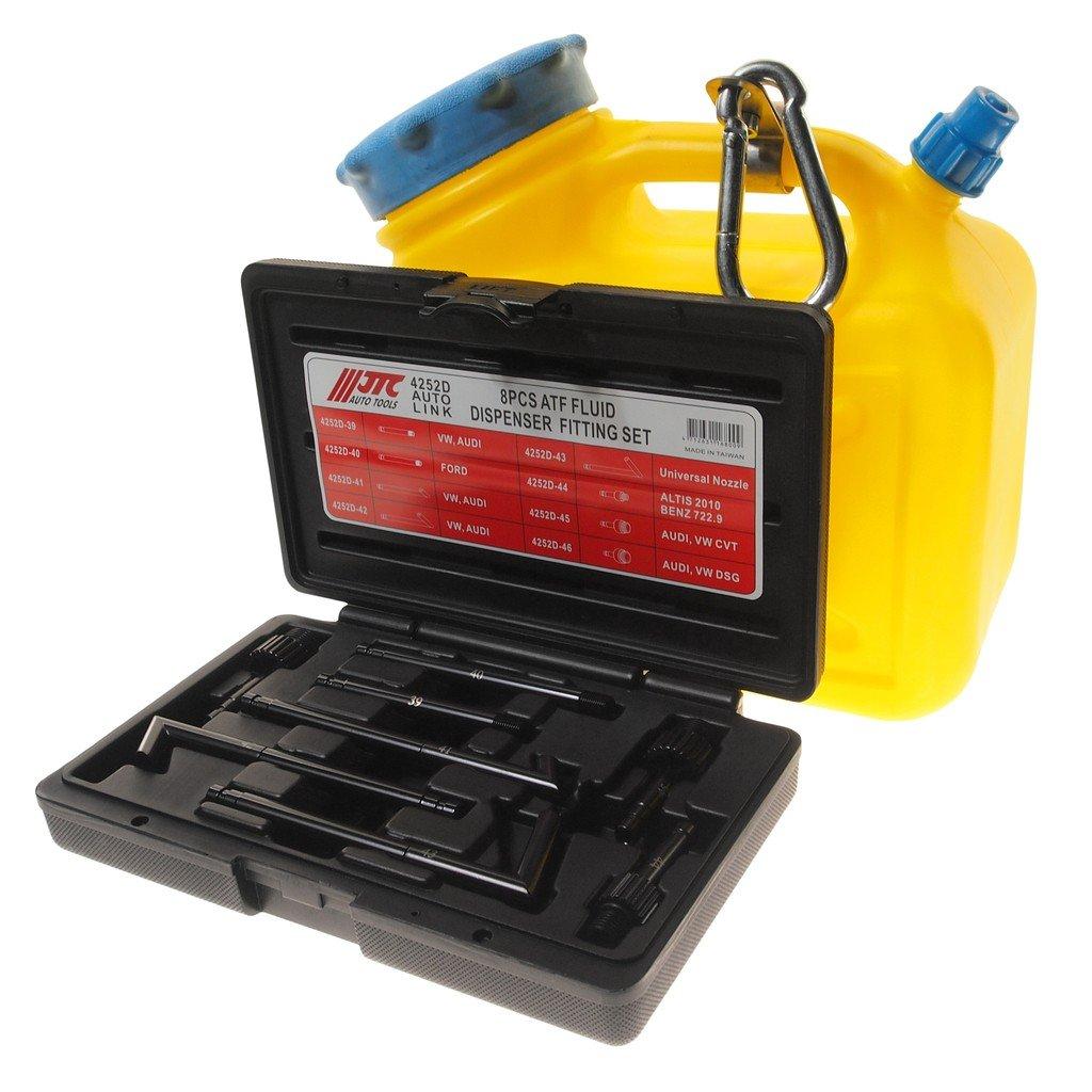 JTC-4539 Емкость для заправки АКПП маслом с набором адаптеров (8 шт.)