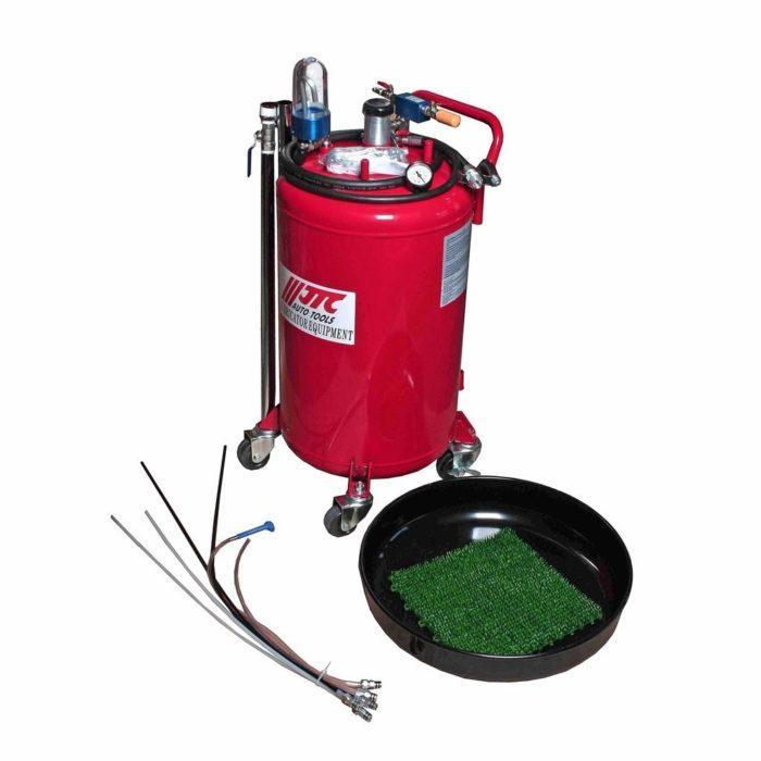 Устройство для слива масла вакуумное, емкость бака 80 литров