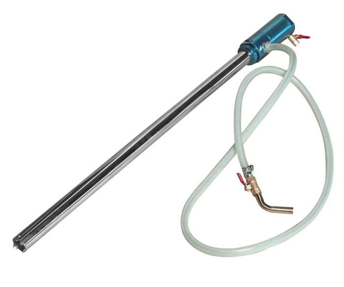 Насос бочковый пневматический 2-8атм.,15-18л/мин. на емкость 200л
