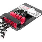 Набор ключей накидных трещоточных с подвижной головкой 8-14мм, 4 пр.