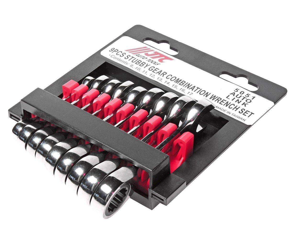 JTC-5051 Набор ключей трещоточных укороченных 8-17мм, 9 предметов