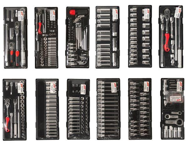 JTC-5641+496 Тележка инструментальная 8 секций 496 предметов
