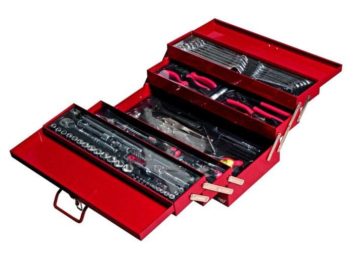Набор инструментов инструментальном ящике (5 лотков) 108 пр.