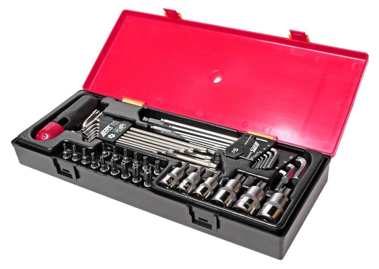 JTC-K1401 Набор инструментов TOPX, HEX в кейсе 40 предметов