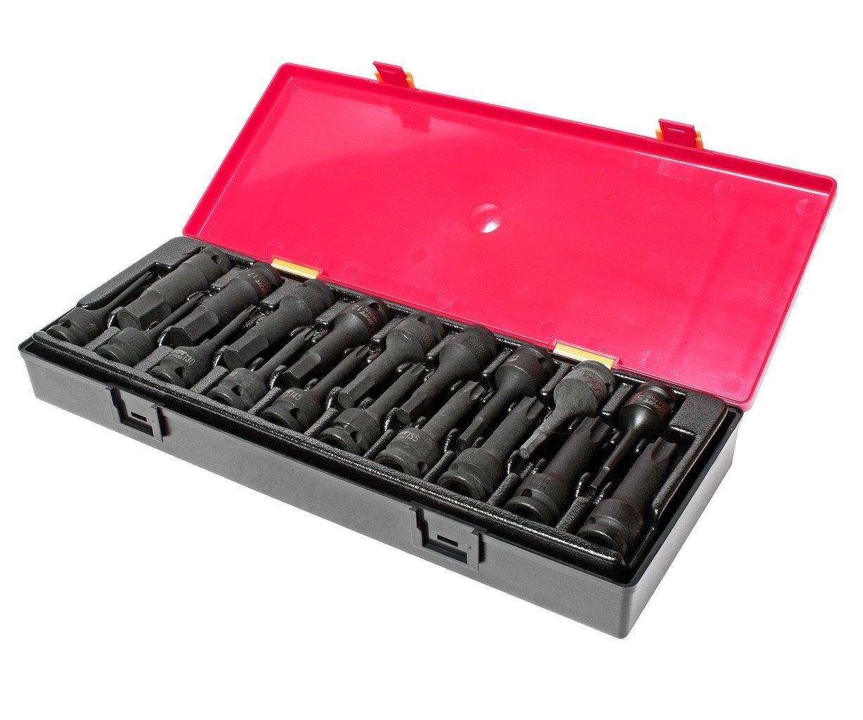 JTC-K4191 Набор головок ударных TORX, HEX 1/2″ (в кейсе) 19 шт