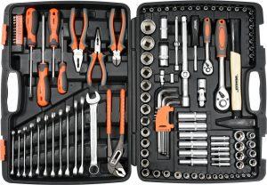 Набор инструментов 1/2″ 122 предмета (пластиковый кейс)