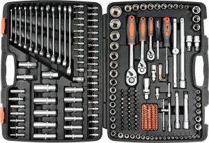 Набор инструментов 1/2″ 216 предметов (пластиковый кейс)