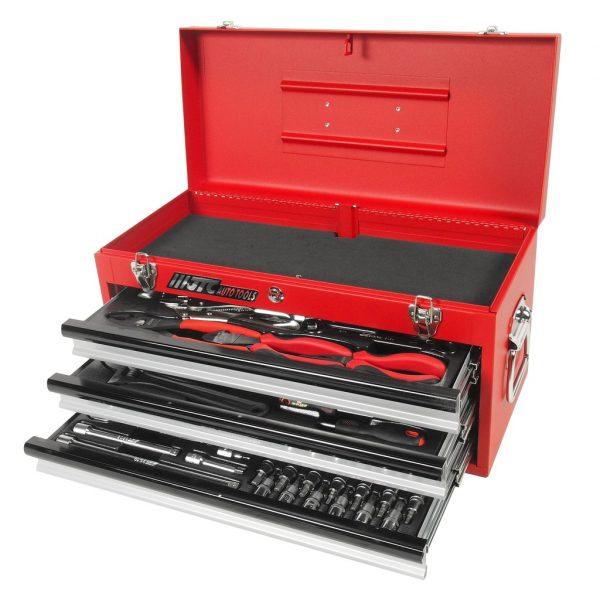 Набор инструментов в переносном инструментальном ящике (3 лотка) 65 пр.