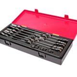 Набор ключей комбинированных трещоточных с подвижной головкой 8-19мм 14 пр