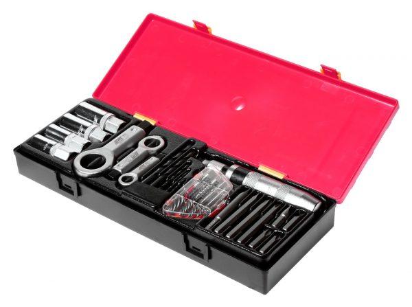 Набор инструментов для демонтажа крепежных элементов с поврежденной резьбой