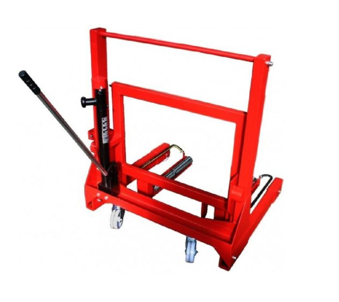 Гидравлическая тележка для снятия колес, г/п 700 кг.