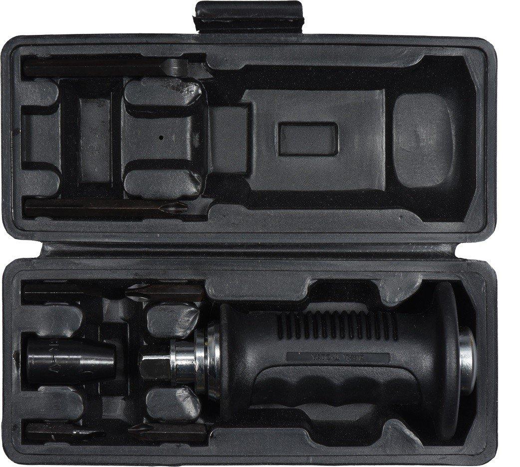 YT-28003 Отвертка ударная с битами 7 предметов (пластиковая ручка)
