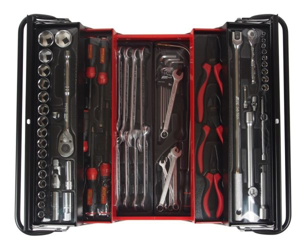 JTC-B076 Набор инструментов в переносном инструментальном ящике (5 лотков) 75 пр.