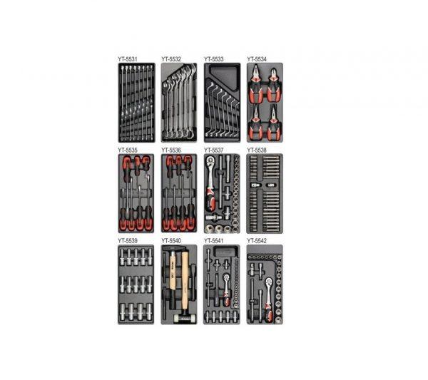 YT-5530 Тележка инструментальная с инструментами 177 предметов.