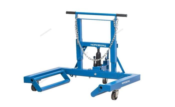 Гидравлическая тележка ля снятия/установки колёс, г/п 680 кг