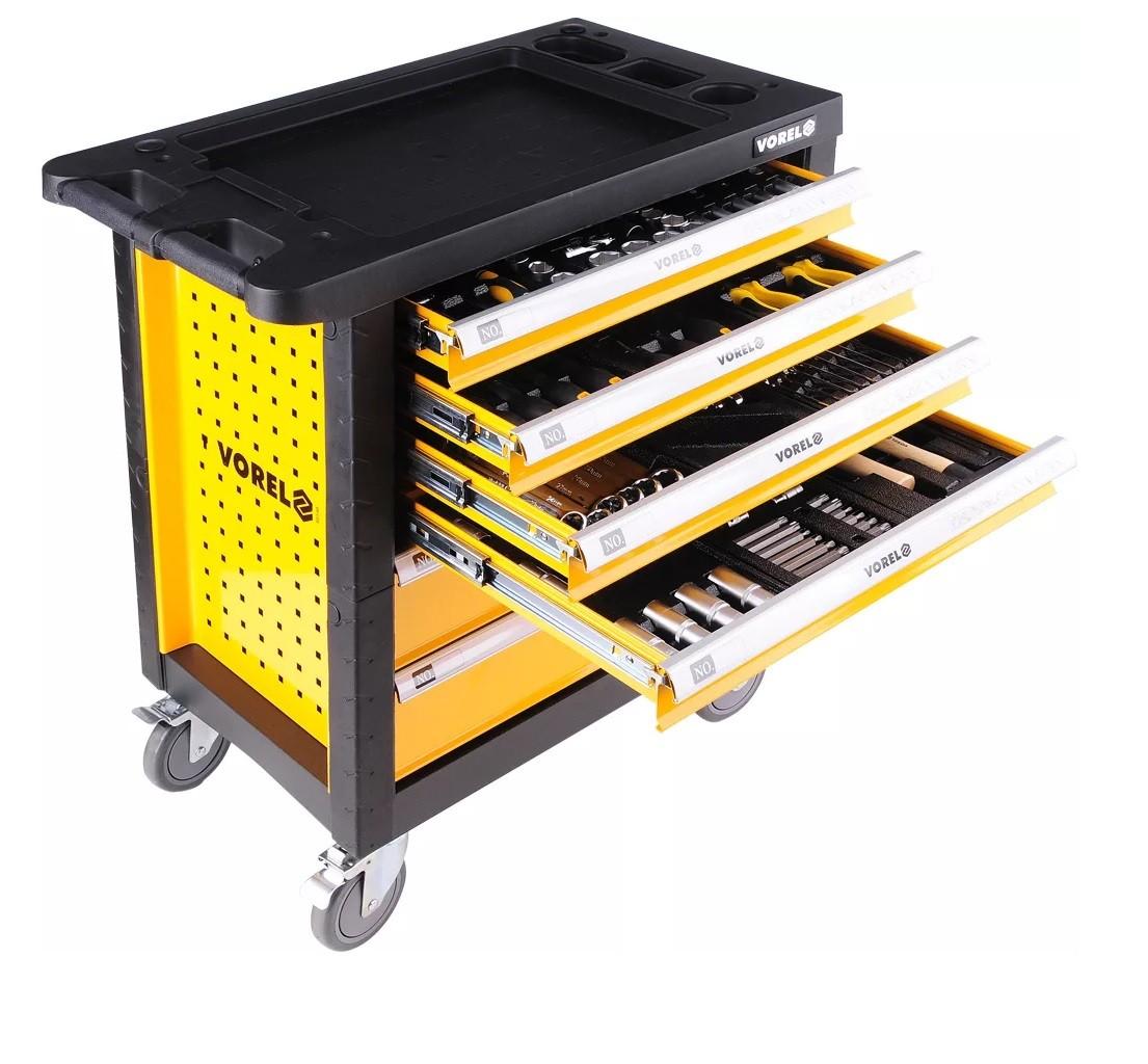 .V58540 Тележка инструментальная с инструментом 177 предметов