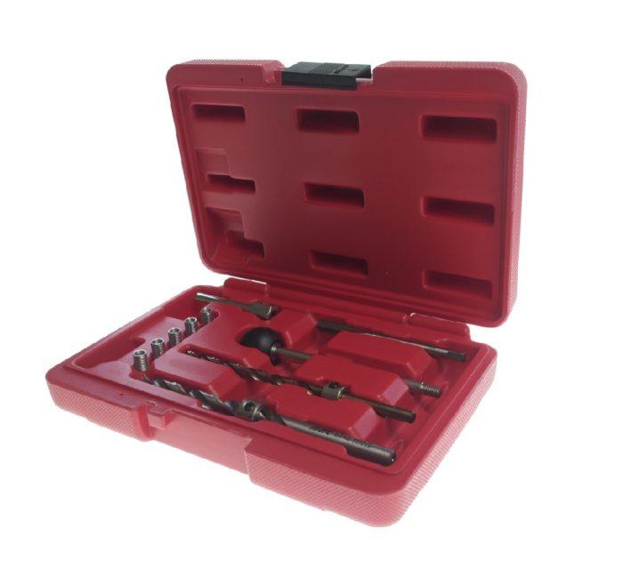 Набор инструмента для восстановления резьбы в блоке цилиндров