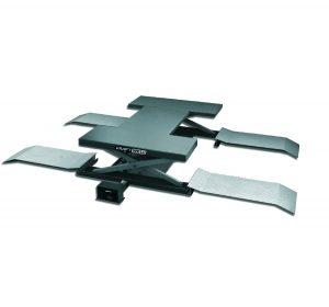 Подъемник ножничный г/п 2500 кг. пневматический напольный с поворотными лапами