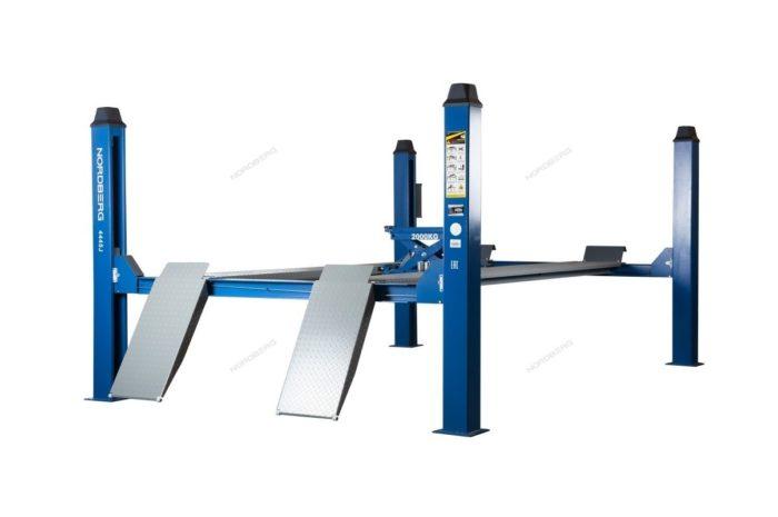Подъемник четырехстоечный, c траверсой, г/п 4,5 тонны, для слесарных работ
