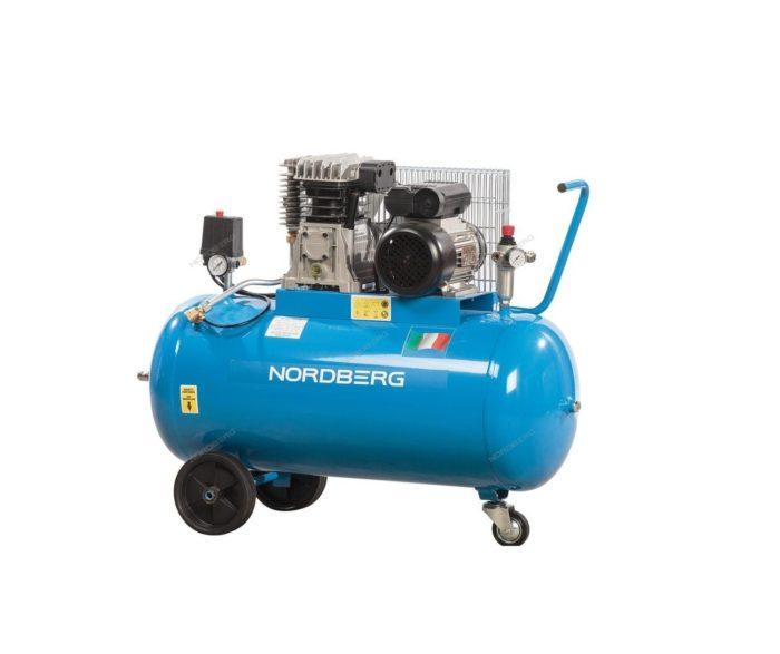 Компрессор поршневой с ременным приводом, объем 100/360 л/мин.