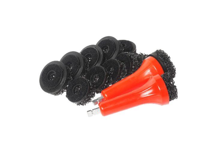 Набор насадок для очистки шпилек ступицы 14 предметов