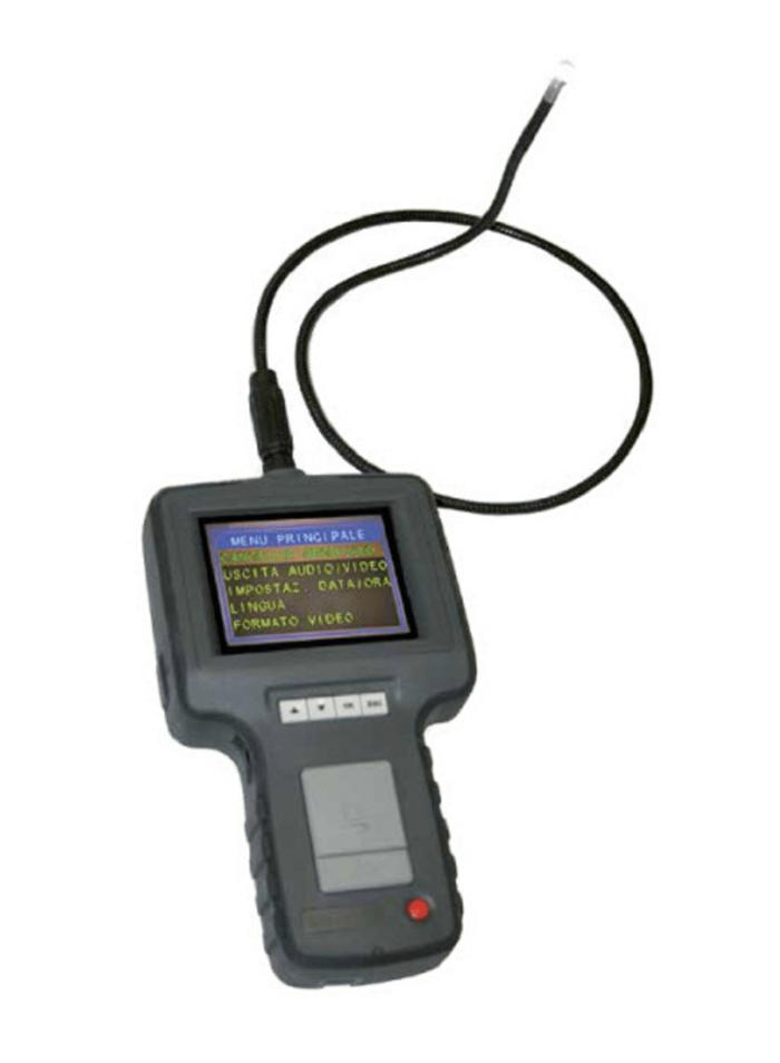 """Видеоскоп с гибким зондом ø 4 мм, дисплей TFT 3,5 """", длина зонда 1000 мм."""